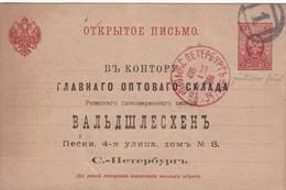 RUSSIE 1893   ENTIER POSTAL/GANZSACHE/POSTAL STATIONERY CARTE DE S.PETERSBURG - 1857-1916 Impero