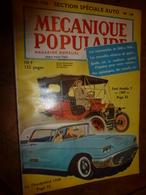 1958 MÉCANIQUE POPULAIRE: Les Automobiles De 1800 à 1900 ( Ford,Thunderbird,Cadillac,Oldsmobile,Essex,Packard,etc) - Voitures
