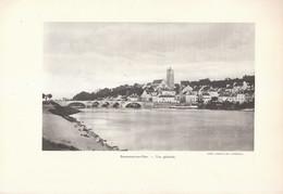 1935 - Héliogravure - Beaumont-sur-Oise (Oise) - Vue Générale - FRANCO DE PORT - Vieux Papiers