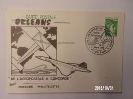 Orléans - De L'Aéropostale à Concorde -10-11 Mars 1979 - Commemorative Postmarks