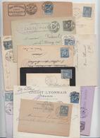 TYPE SAGE --LOT DE 15 LETTRES OU ENTIERS --OBLITERATIONS DE PARIS -- - Postmark Collection (Covers)
