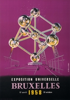 Belgian Exposition Postcard Bruxelles 1958 - Reproduction - Advertising