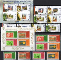 CEPT 2005 Türkiye 3495/8,VB+Bl.59,Latvia 656/9,4-Block+sheet 21 ** 37€ Ss Blocs Bf Topics Se-tenant 50 Years EUROPA - 1921-... Republik