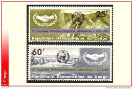 Congo 0611/12** Meteorologie Surcharges  MNH - République Démocratique Du Congo (1964-71)