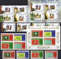 EUROPA 2005 Türkiye 3491/4,VB+Bl.58B,Latvia 656/9,4-Block+sheet 21 ** 52€ Ss Blocs Bf Topic Se-tenant 50 Years CEPT - 1921-... Republik