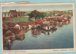 CPA:  MANAUS  (brésil):  Casas Flutuantes  -  Igarapé De Manaus En 1960.    (E1204.) - Manaus