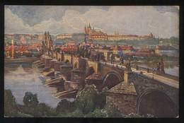Praha. *Panorama Hradcan A Malé Strany* Ilustrador *F. Engelmüllera* Nueva. - República Checa