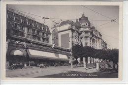 LAUSANNE - CENTRAL BELLEVUE - VIEILLES VOITURES - 1945 - VD Vaud