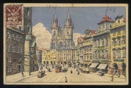 Praha. *Staroméstké Námestí...* Ecrita. - República Checa