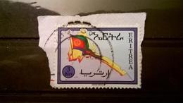 FRANCOBOLLI STAMPS ERITREA 1994 SERIE PRIMO ANNIVERSARIO INDIPENDENZA SU FRAMMENTO FRANGMENT - Eritrea