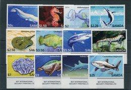 """Samoa - Mi.Nr. 1144 / 1155 - """"Einheimische Tiere"""" ** / MNH (aus Dem Jahr 2014) - Samoa (Staat)"""