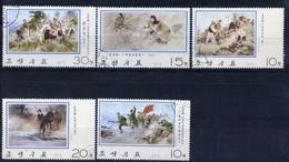 Y85 DPRK (NORTH KOREA) 1975 1348-1352 ART, Revolutionary Painting - Korea, North