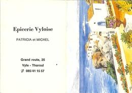 """Calendrier De 1993 """" Epicerie Vyloise Patricia Et Michel à VYLE-THAROUL """" - Calendari"""