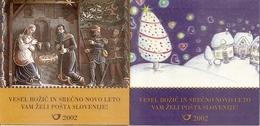 SLOVENIA, 2001, Booklet 16/17, Christmas, Mi 375/376 - Slowenien