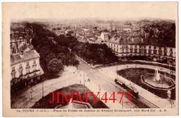 CPA - Place Du Palais De Justice Et Avenue Grammont, Bien Animée, Tramway - TOURS 37 Indre Et Loire - N°34 - Edit. A. P. - Tours