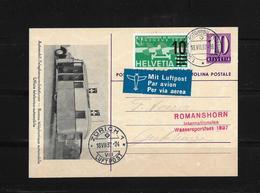 Luftpost → Automobil Postbureau Karte Nach Romanshorn   ►Int.Wassersportfest 1937◄ - Poste Aérienne