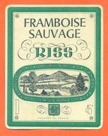 étiquette De Liqueur De Framboise Sauvage R Riss à Navenne Haute Saone - 70 Cl - Otros
