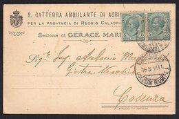 ITALY ITALIA ITALIEN 1917. POSTCARD CARTOLINA POSTALE, COSENZA - Italy