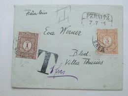1925 , Brief Aus PERNITZ Nach BLED , Dort Mit Nachporto Marken Frankiert - 1918-1945 1. Republik