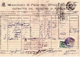 ITALIA  Storia Postale Di  AMGOT  Cert   Comunale Affr, Di Cent. 30 + Marche - 1900-44 Vittorio Emanuele III