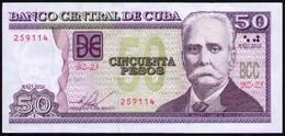 CUBA 50 PESOS 2016 UNC REMPLAZO BZ - Cuba