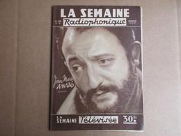 La Semaine Radiophonique - 18 Aout 1957 - Television