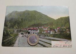2524) Piemonte VARZO NOVARA SEMPIONE Stazione Ferroviaria VIAGGIATA 1906 - Italia