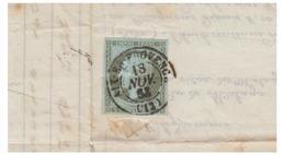 FRANCE -- NAPOLEON III TËTE NUE -- 1c SUR IMPRIME -- AIX EN PROVENCE -- VENTE HUILE SAVONS ETC..-- ETAT DU DOC. MOYEN-- - 1853-1860 Napoléon III