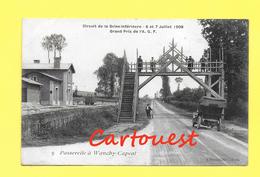 CPA 76 DIEPPE Automobile Club De France Circuit Seine Inférieure 1908 Passerelle WANCHY CAPVAL ( Auto ) - Dieppe