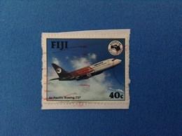 1984 AEREO AIR PACIFIC BOEING 737 40 C FIJI FRANCOBOLLO USATO STAMP USED - Fiji (1970-...)