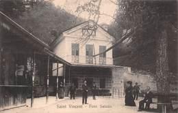 """08696 """"(AO) SAINT VINCENT - FONS SALUTIS"""" ANIMATA. CART SPED 1909 - Aosta"""