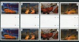 """Südgeorgien - Mi.Nr. 503 / 506 Zwischensteg / Gutter-Pair - """"Schiffswracks"""" ** / MNH (aus Dem Jahr 2010) - Südgeorgien"""
