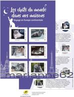 """France 2017 Animaux Compagnie """" Les Chats Du Monde Dans Nos Maisons Europe Continentale """" - Neuf Ou Oblitéré - Chats Domestiques"""