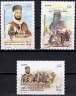 ALGERIA, 2018, MNH,RESISTANCE, MILITARY, BATTLES, CAMELS, HORSES, SWORDS,3v - Otros