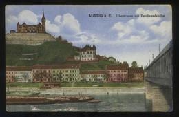 Aussig A. E. *Elbestrasse Mit Ferdinandshöhe* Circulada. - República Checa