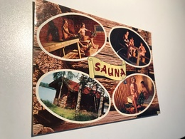 Finland Suomi Sauna Bastu Naked Woman Man Child 9361 Post Card Postkarte POSTCARD - Célébrités D'époque < 1960