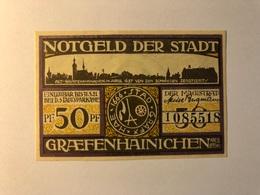 Allemagne Notgeld Graefenhainichen 50 Pfennig - [ 3] 1918-1933 : République De Weimar