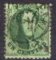 BELGIQUE ( POSTE ) : Y&T N°  13 A  TIMBRE  TRES  BIEN  OBLITERE . - 1849-1865 Medallones (Otros)