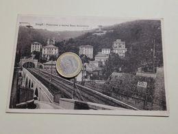 2553) Liguria ZOAGLI GENOVA Stazione Ferroviaria 1928 Viaggiata - Italia