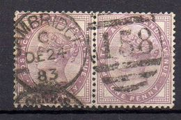 GRANDE- BRETAGNE ( POSTE  ) : Y&T N° 73  EN  PAIRE TIMBRES  BIEN  OBLITERES . - 1840-1901 (Viktoria)
