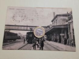 2554) Liguria Chiavari GENOVA Stazione Ferroviaria 1913 Viaggiata - Otras Ciudades