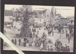 Oise - Chambly - Le Curieux Arbre Du Bois Hourdy, Rassemblement Pour La Cavalcade, Jour De La Fete - Autres Communes