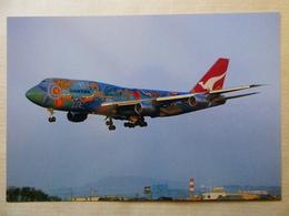 QANTAS  B 747 338  VH EBU - 1946-....: Ere Moderne