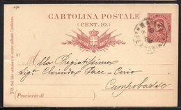 ITALY ITALIA ITALIEN 1893. POSTCARD CARTOLINA POSTALE, FERROVIA PONTICELLI CAMPOBASSO - Italia