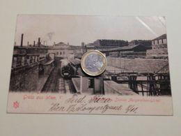 2570) Austria Wien Stazione Ferroviaria 1901 VIAGGIATA TRENO Gruss Gurtel Marga - Altri