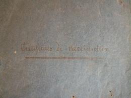 LA CHARTRE   RUILLE   (Sarthe) 1870/1889  Carnet De Vaccination  Docteur à Identifié Sur Signature  15 Pages - Vieux Papiers