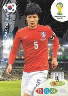 CARTE PANINI ADRENALYN COUPE DU MONDE FIFA BRESIL 2014 COREE DU SUD KWAK TAE HWI - Trading Cards
