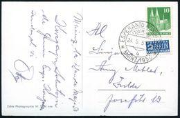 (22b) Mainz/ 4/ ESPERANTO KONGRESS 1950 (28.5.) SSt , Klar Gest. S/w.-Foto-Bedarfs-Ak. (Mainz), Text In Esperanto (Bo.32 - Esperanto