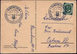 (13b) MÜNCHEN/ 36a/ UNIVERSALA KONGRESO DE ESPERANTO 1951 (6.8.) SSt 2x Glasklar Auf Seltener Kongreß-Sonderkarte: Salut - Esperanto