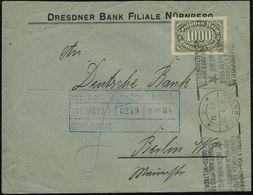 NÜRNBERG/ *2*/ VIZITU LA XVan UNIVERSALAN/ KONGRESON DE ESPERANTO... 1923 (Aug.) BdMWSt, Seltene Type II = Datumslinie D - Esperanto